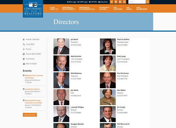 Cincinnati Area Board of REALTORS®-Web Design Portfolio Image