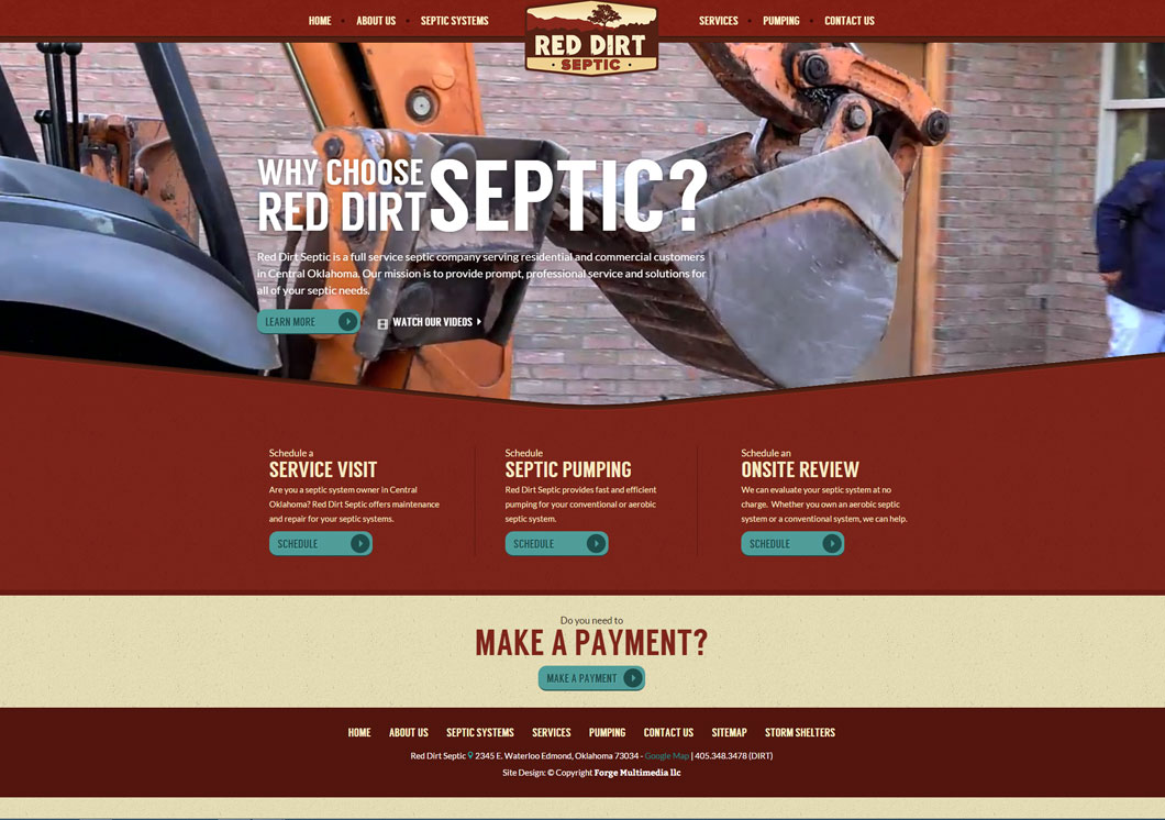 Red Dirt Septic Portfolio Image