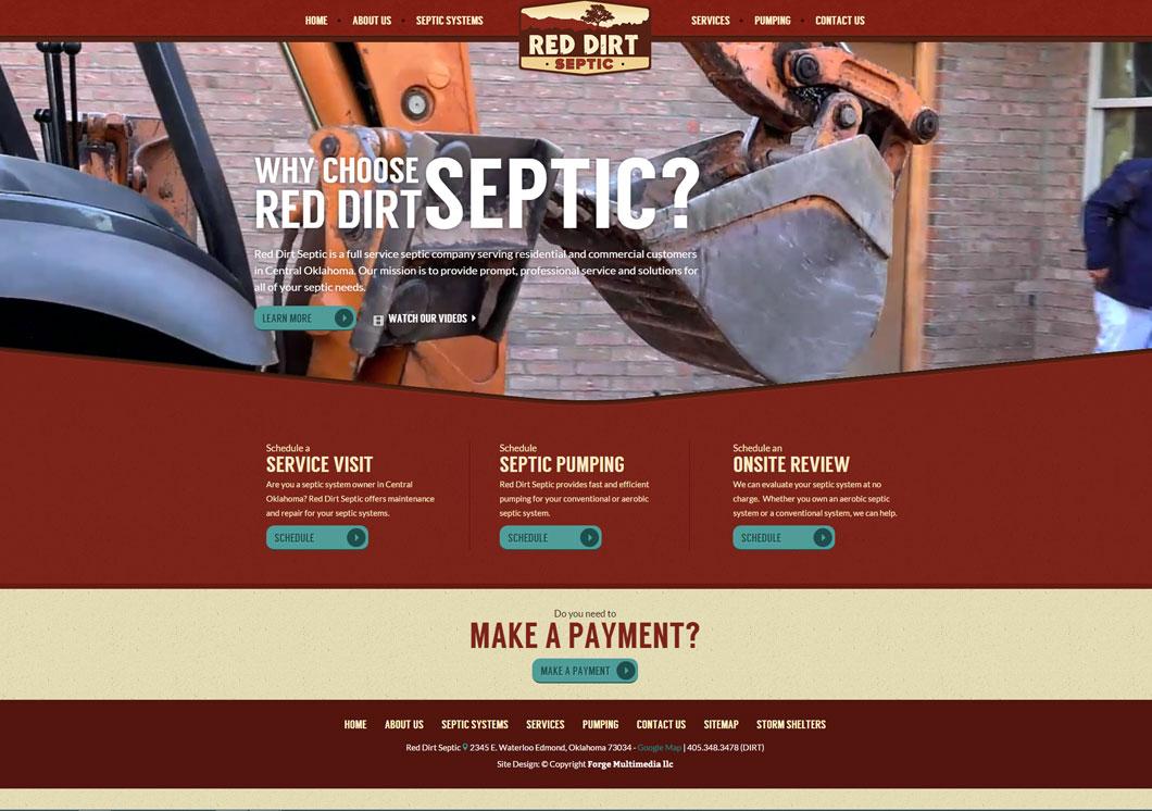 Red Dirt Septic Portfolio Image