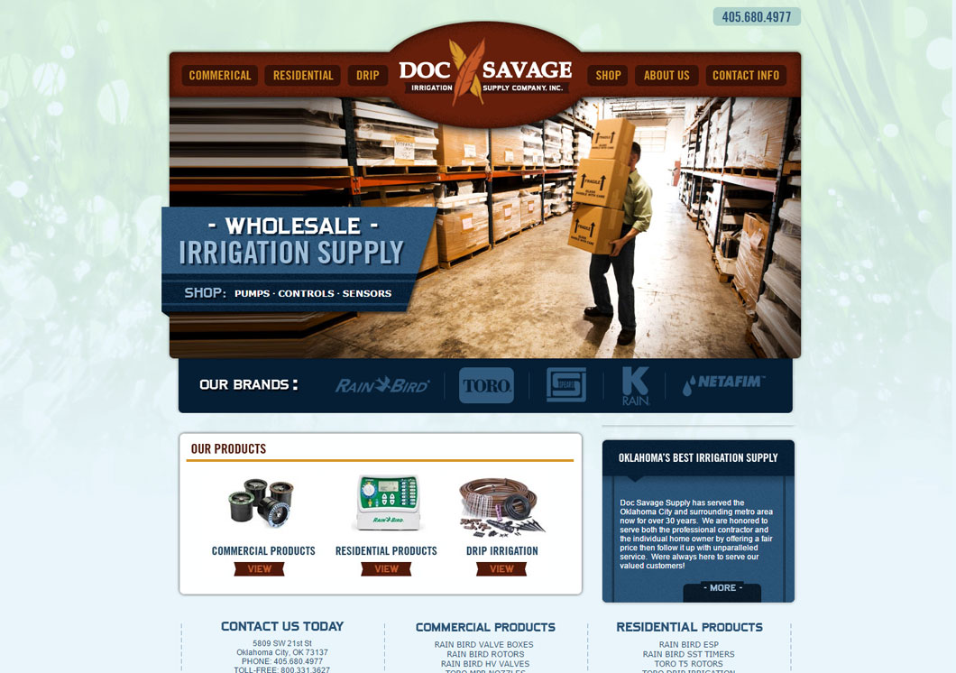 Doc Savage Irrigation Supply Portfolio Image
