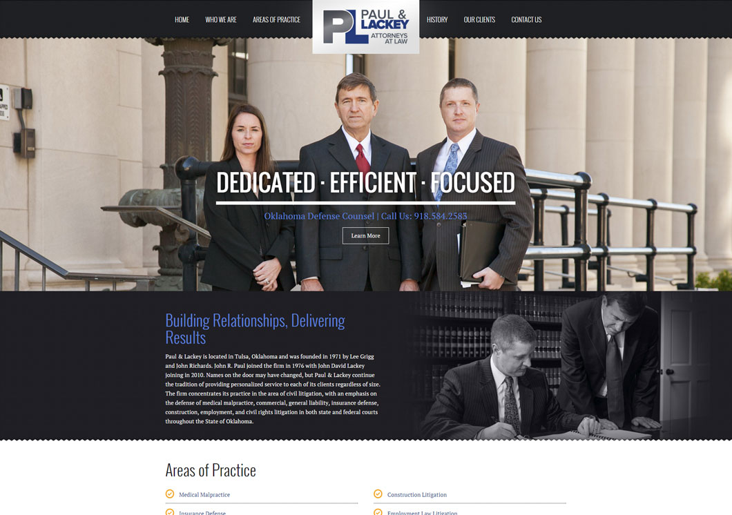 Paul & Lackey Law Firm Portfolio Image