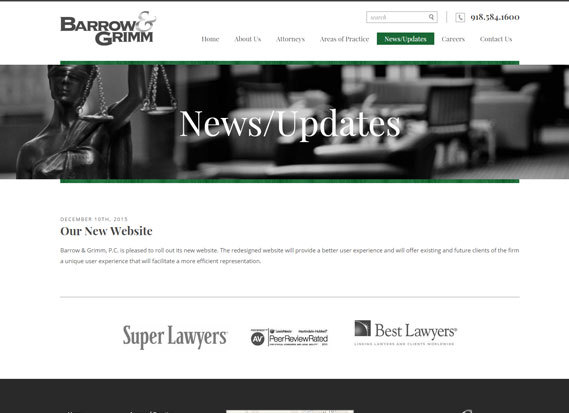 Barrow Grimm Law Firm-Web Design & Development Portfolio Image