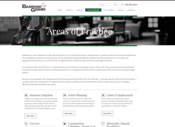 Barrow Grimm Law Firm-Web Design & Development Portfolio Image